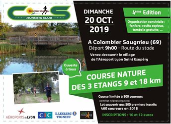 COURSE NATURE DES 3 ETANGS - 20/10/2019